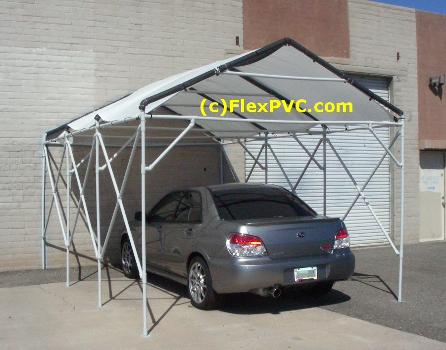 A Cool Car Canopy This Is Made Of All 1 Quot Pvc Pipe That S