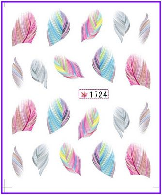 Nail Sticker Plume Feather Pinna Water Transfers Stickers Nail Decals Stickers Water Decal  #1724 //Price: $0.99 & FREE Shipping //   #makeup