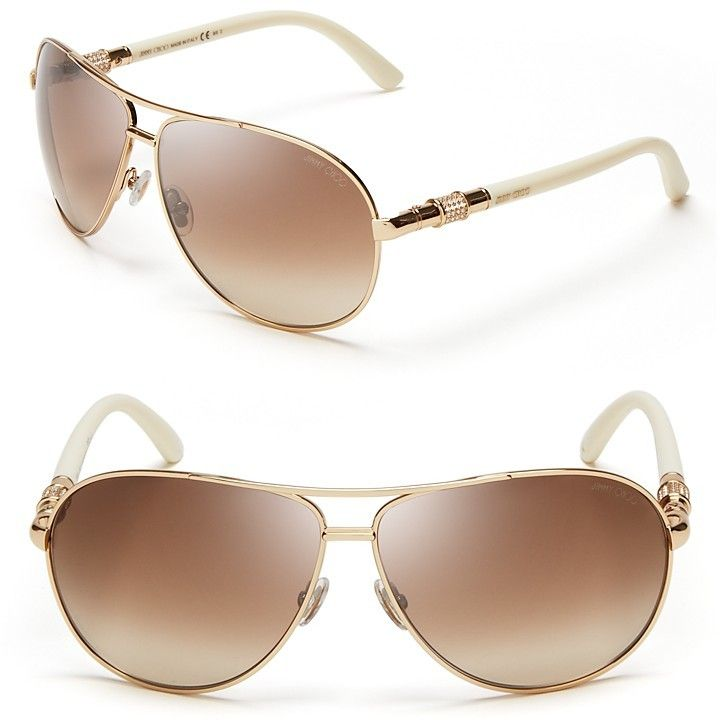 Jimmy Choo Walde Crystal Temple Sunglasses, 63mm - $400.00