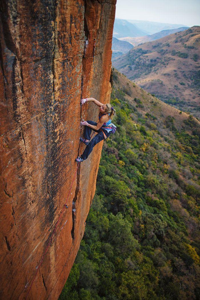 Photos Sasha Digiulian Climbing In South Africa Climbing Girl Ice Climbing Climbing