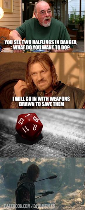 Lord of the Rings Boromir & D&D joke / geek funny | Nerdy ...