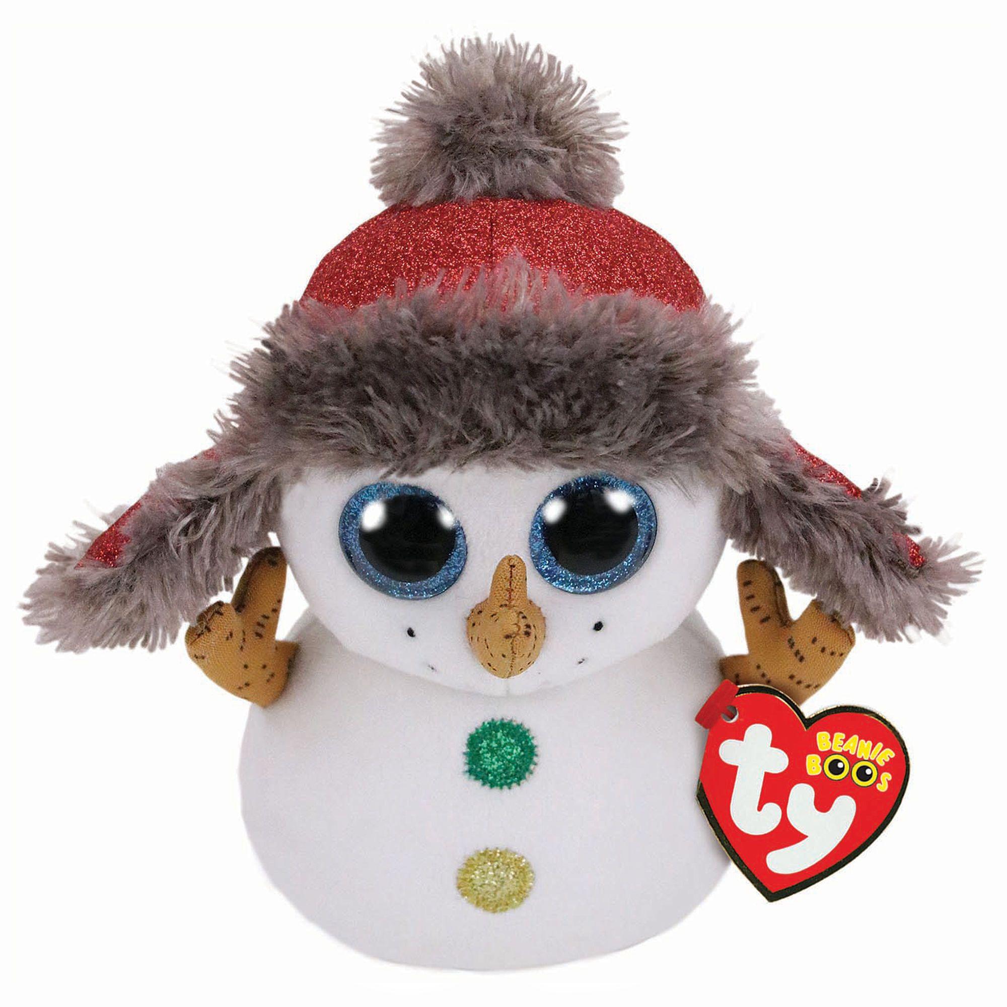 fb51f7c2c6f Ty Beanie Boo Medium Buttons the Snowman Plush Toy ...