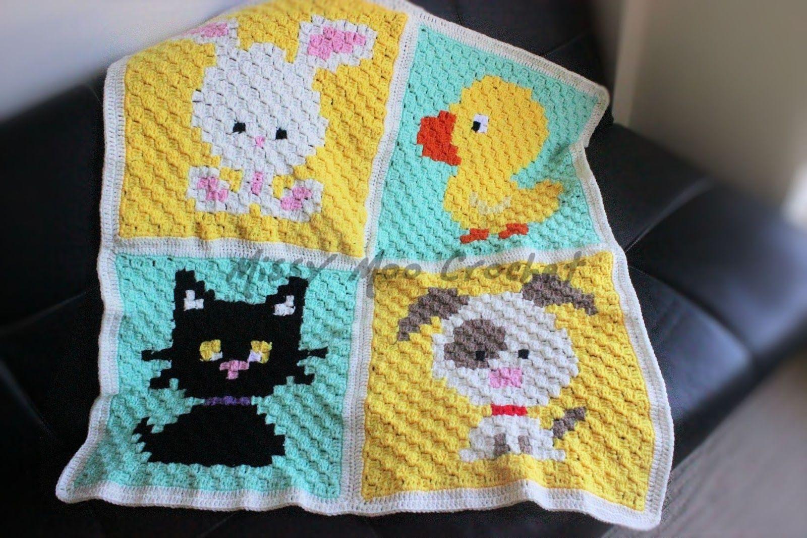 Animal C2c Blanket Christmas Crochet Baby Blanket Crochet Free