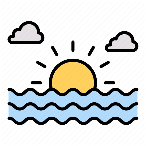 Sunrise Sunset Water Weather Icon Download On Iconfinder Weather Icons Summer Icon Sunrise