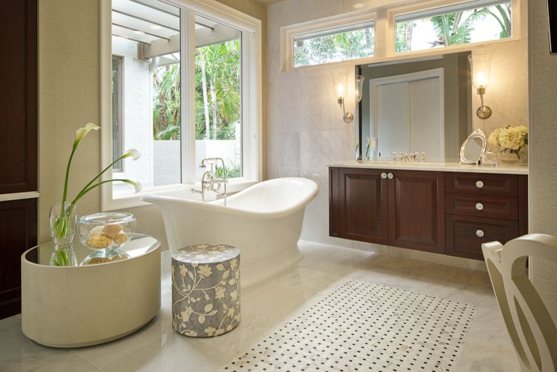 Feel the charm and coziness of the European bathroom design