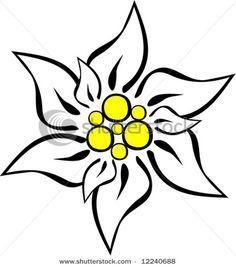 Edelweiss dessin edelweiss tattoo grandma tattoos et time tattoos - Coloriage fleur edelweiss ...