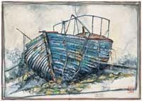 Ole West - Altes Boot - jetzt bestellen auf kunst-fuer-alle.de