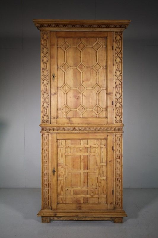 Georgian Architectural Antique Pine Cupboard Decorative