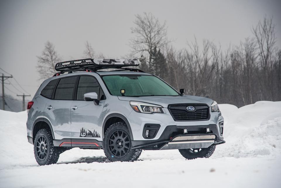 LP Aventure doors stickers in 2020 Subaru forester