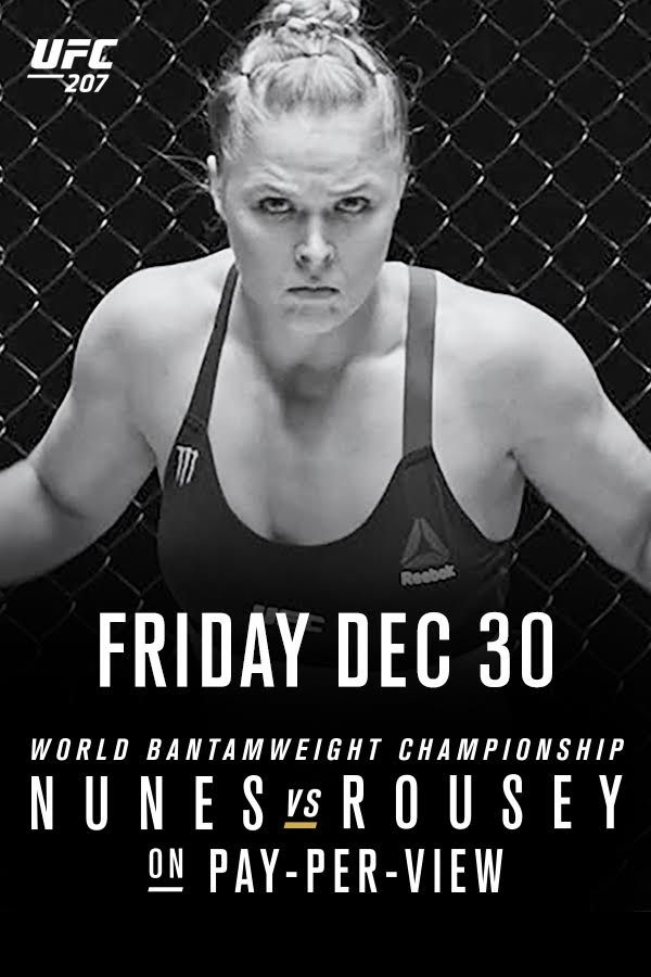 Get ready for the return of Ronda Rousey at UFC 207! Nunes vs Rousey for the bantamweight title streaming LIVE on Friday, December 30. Order now!