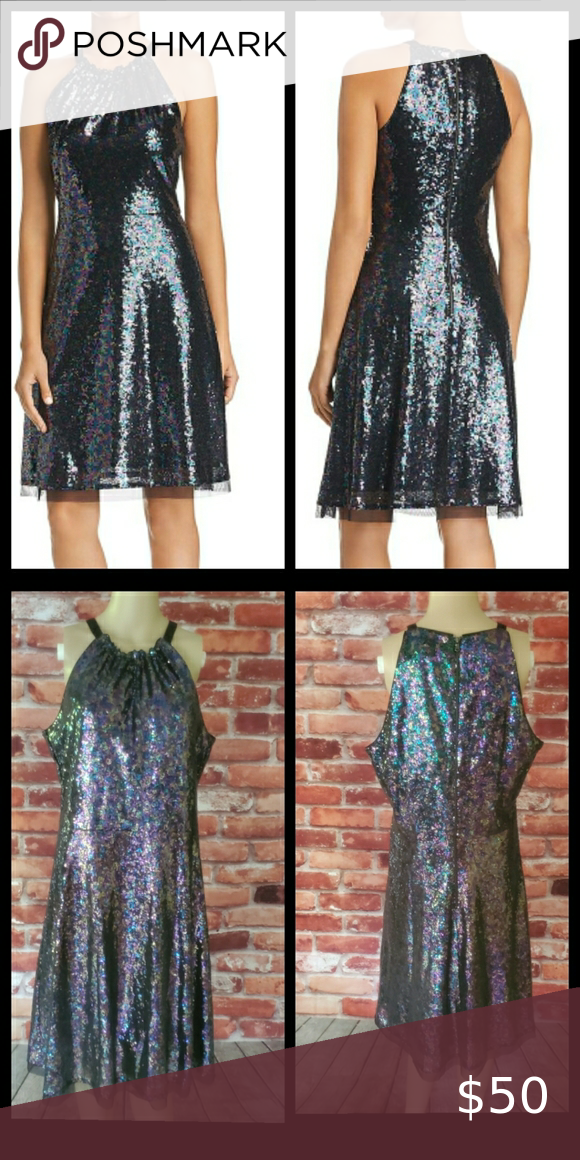 Le Gali Roxanne Sequined Dress Size 12 NWT