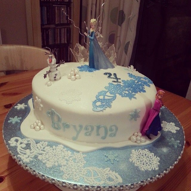Disney Frozen Cake created by Kerry Marks For all your Disney
