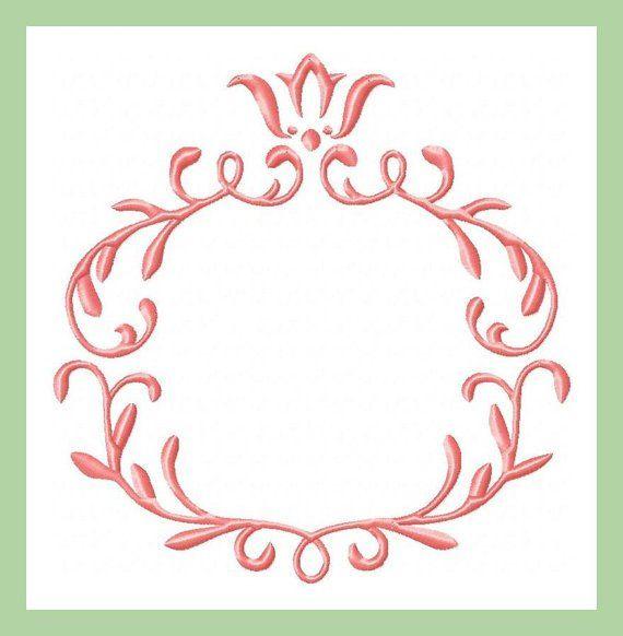 Crest Monogram Frame - Machine Embroidery Design | Altares, Bordado ...