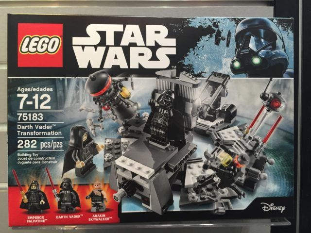 LEGO Star Wars Darth Vader Transformation 75183 Box Toy Fair 2017 ...