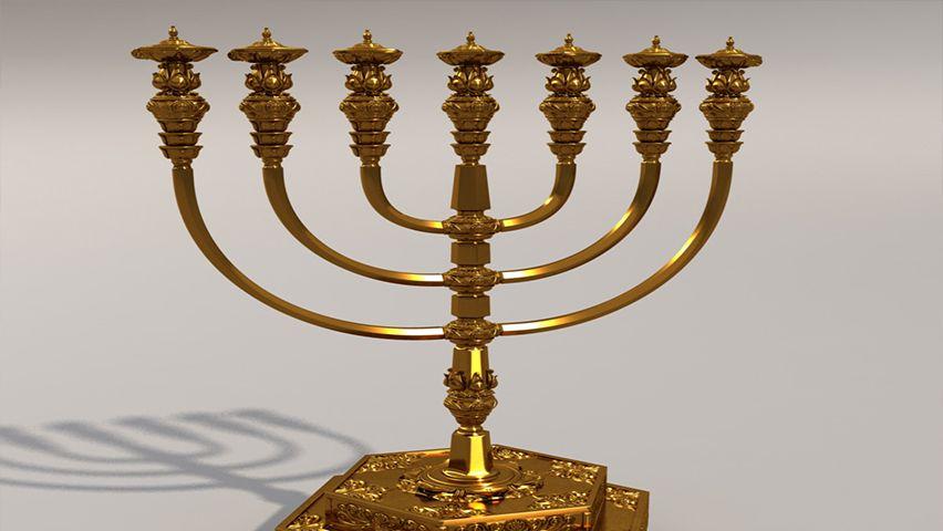 El Significado De La Menorah Candelabro Judio Conoce Israel Candelabro Judio Menorah Tabernaculo De Moises