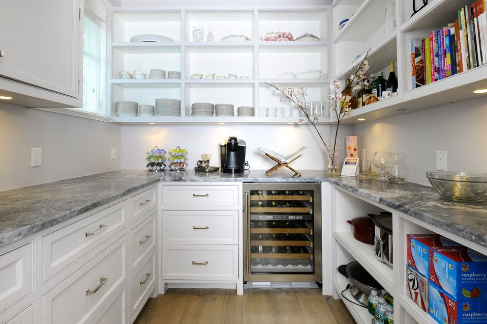 appealing butlers pantry ideas decor ideas in kitchen traditional design ideas with appealing butlers pantry cookbook storage gray walls open shelves plate - Butler Pantry Design Ideas