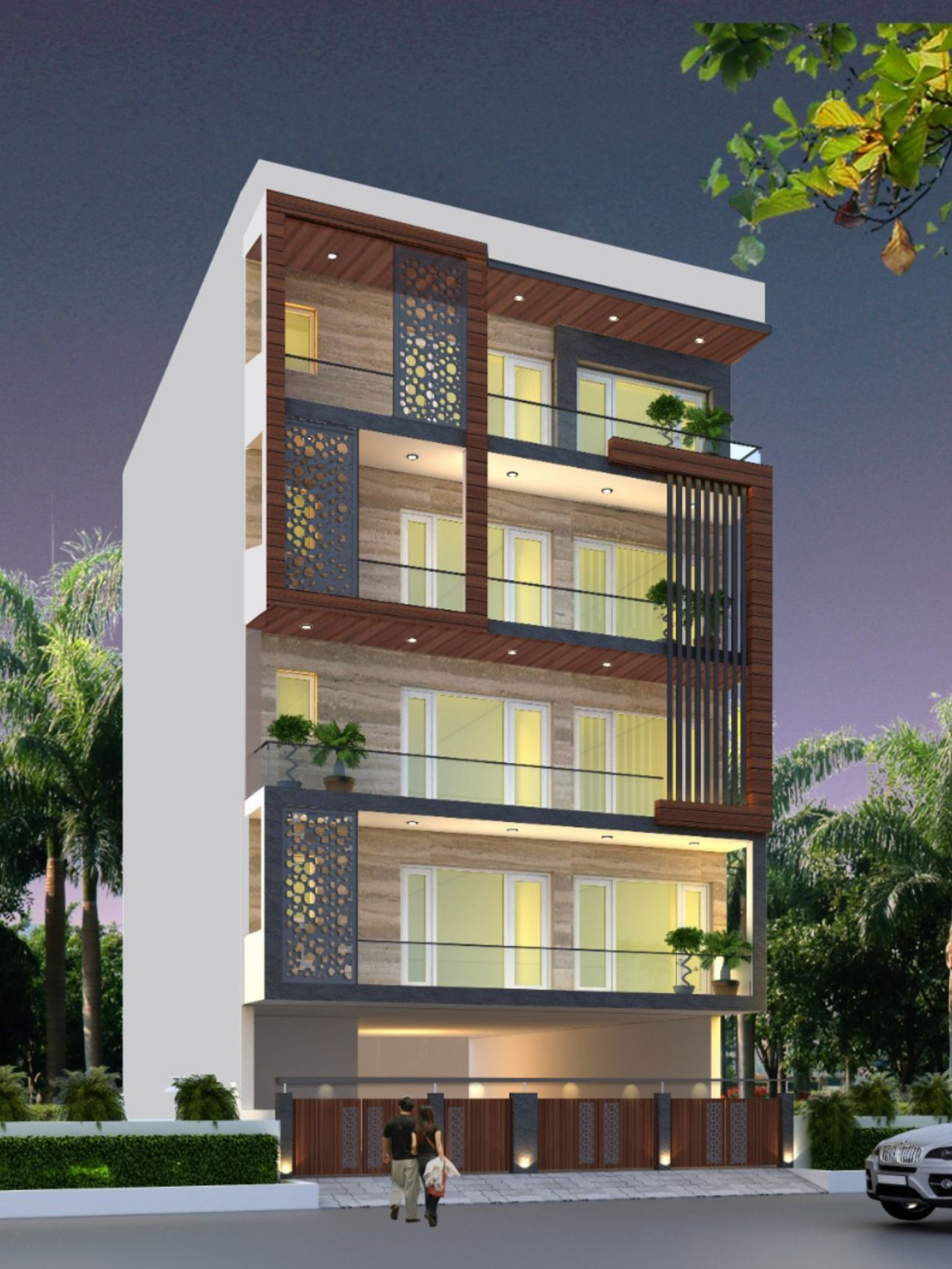 Elevation Design for Residential Project in Delhi Facade