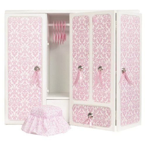 Our Generation Wooden Wardrobe With Ribbons Our Generation Http Www Amazon Com Dp B00iklqdr0 Ref Cm Sw R Pi Dp We9qub1v10f1p Com Imagens Bonecas Our Generation