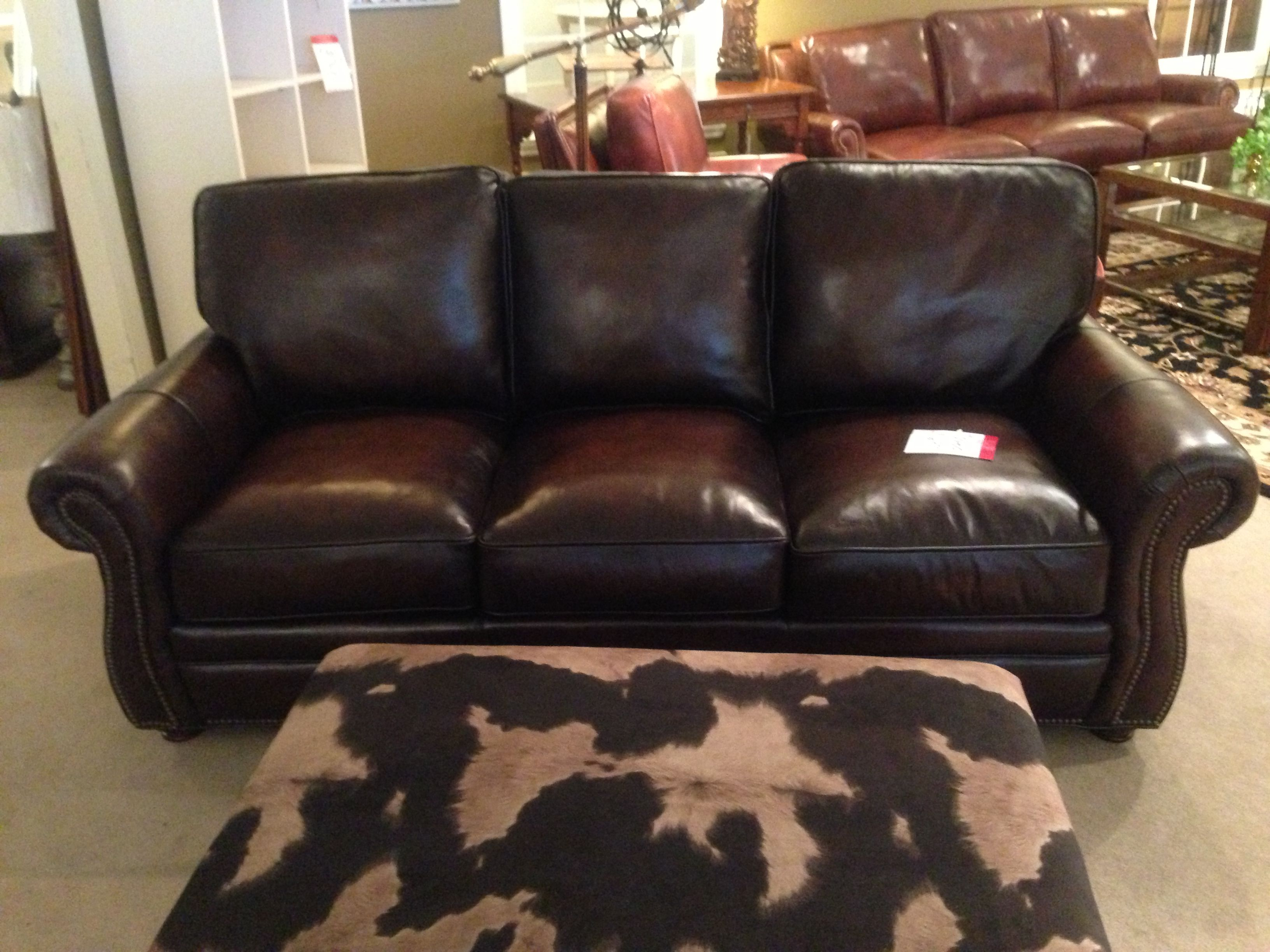Leather Sofa With Nailhead Trim Spotlight On