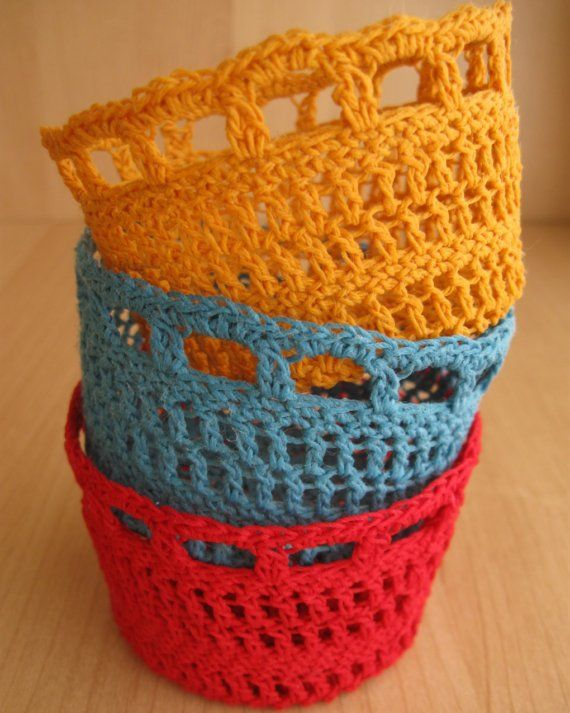 Free Patterns Crochet Baskets Bowls : Best 20+ Crochet bowl ideas on Pinterest Crochet box ...