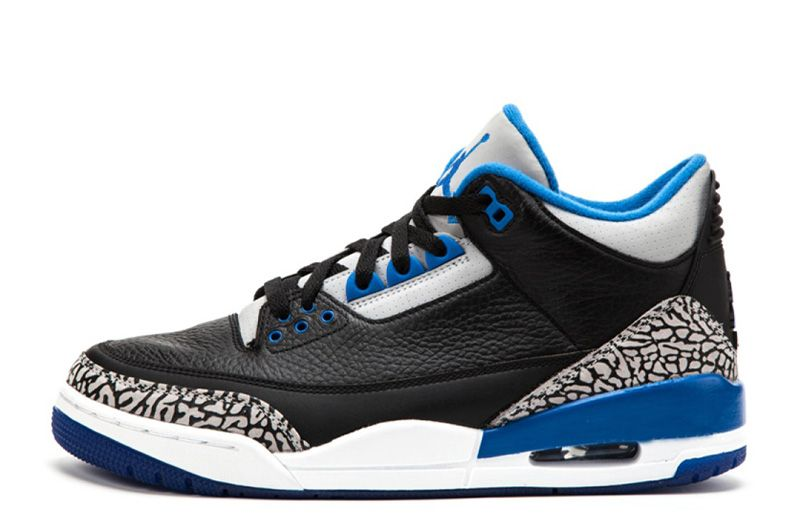 buying cheap separation shoes really cheap Air Jordan 3 Retro Sport Blue Black/Sport Blue-Wolf Grey For ...