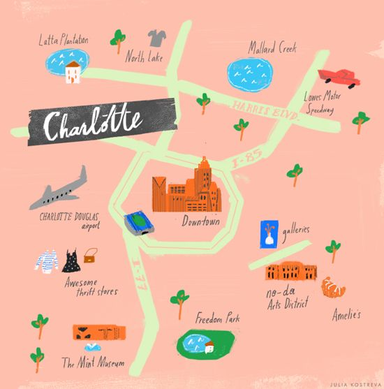 Freedom Park Charlotte Nc Map.Our Very Own Julia Kostreva Being Brilliant Again Illustration