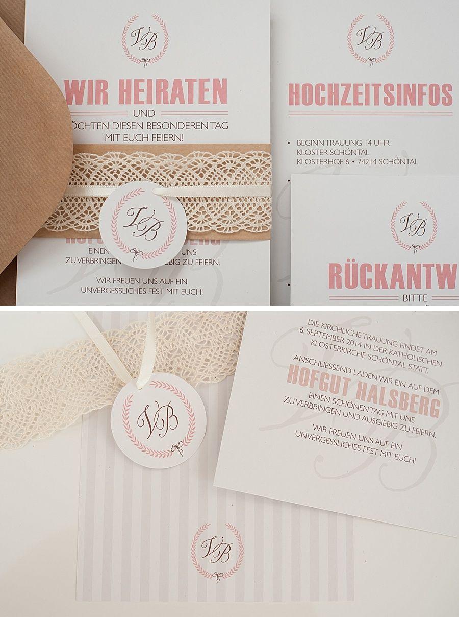 Hochzeitseinladung im vintage stil hochzeit pinterest for Pinterest hochzeitseinladung