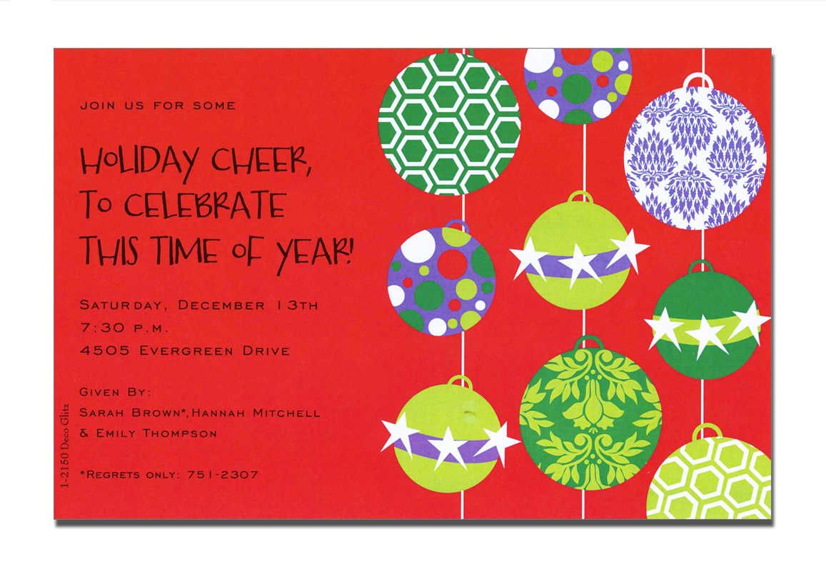 Good Religious Christmas Party Ideas Part - 5: Christmas Open House Invitations - Christmas Open House Invitations For  Special Events
