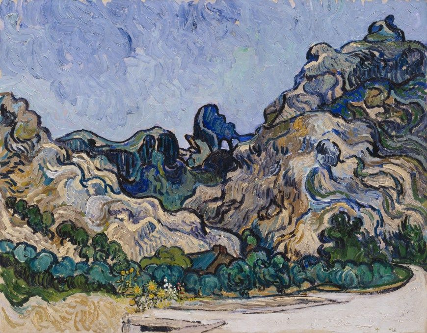 """Mountains at Saint-Rémy"" by Vincent van Gogh Solomon R. Guggenheim Museum ~ New York, New York, USA"