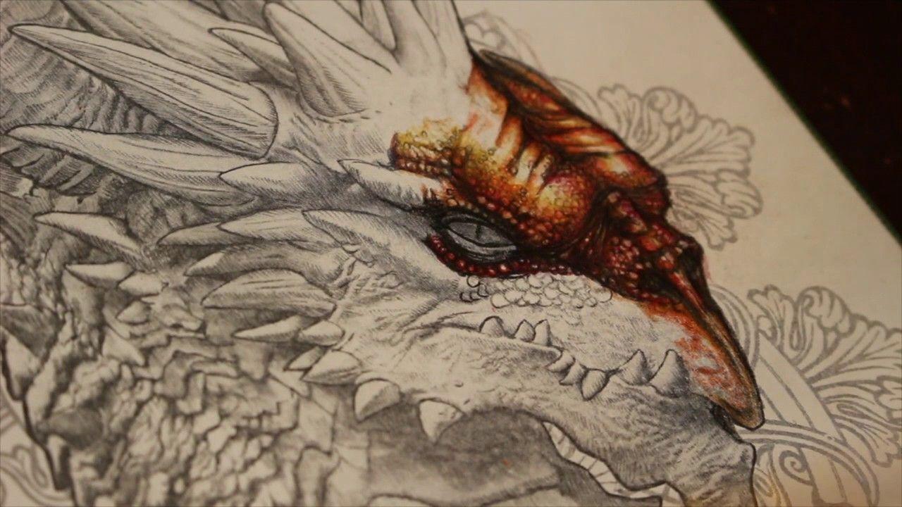 Book Bennett Klein Quot Dragons Quot Https X2f X2f Bennett Klein Art Myshopify Com X2f Collections X2f All Materials Used Tekenen Kleuren Kleurplaten