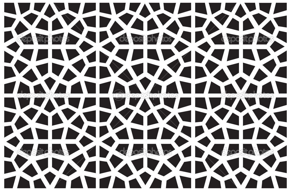 Seamless Vector Symmetrical Arabic Islamic Pattern Background