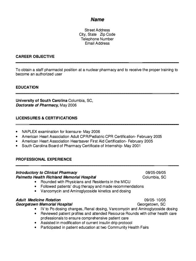 Cv Pharmacist Samples Free Resume Sample Resume Template Examples Free Resume Samples Pharmacist