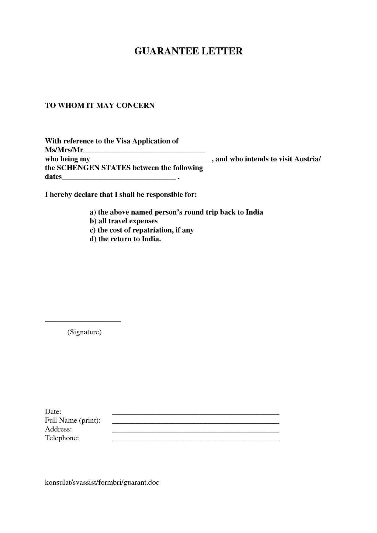 How To Accept Sample Signature Guarantee Letter Templates With