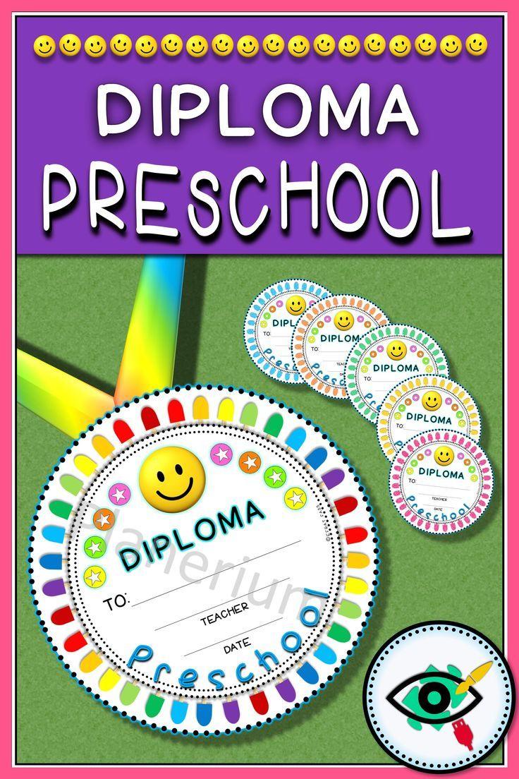 Preschool diploma circle end of year