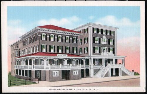Atlantic City Nj Glaslyn Chatham Hotel Vintage Linen