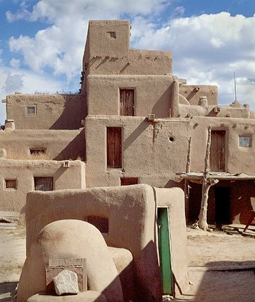 Taos pueblo the oldest continuously inhabited dwellings for Treehouse cabins aurora ny