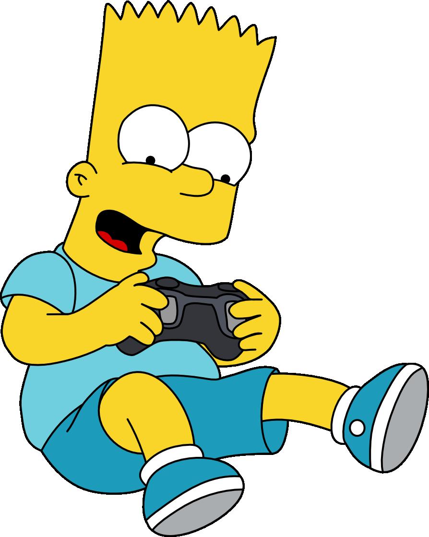 Bart Loves This Game Bart Simpson Art Bart Simpsons Art