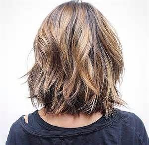 Choppy Bob Hairstyles Back View Bing Images Halflange Kapsels Kapsels Kapsel Halflang Haar Laagjes
