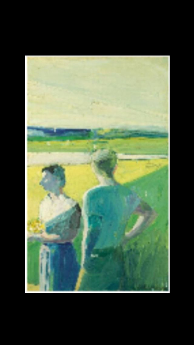 Paul Wonner - 1959 - Oil on canvas - 137,2 x 83,8 cm.