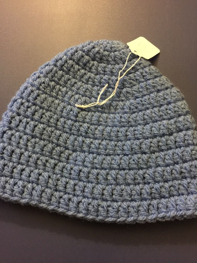 Beanie Cap Hat Baby Boys 6-12 Months Light Blue Handmade Skullcap Crochet    fashion  clothing  shoes  accessories  babytoddlerclothing  babyaccessories  ... 64a592ee558a