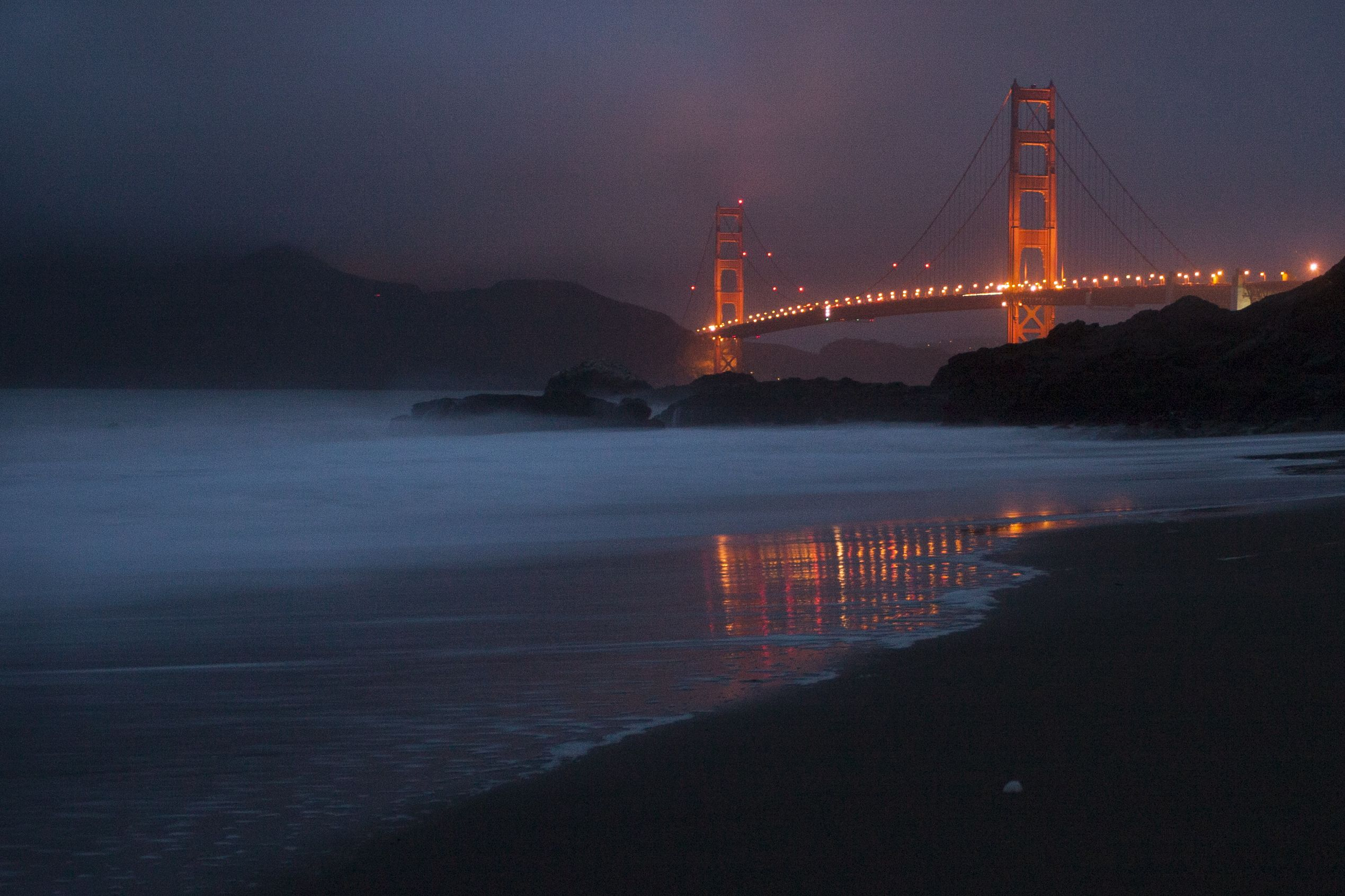 Image Result For Baker Beach At Night Beach At Night Cold Winter Beach