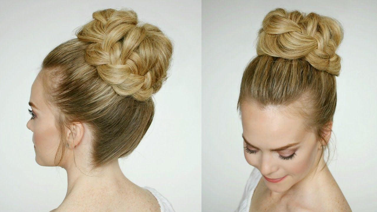 French Braid High Bun | Missy Sue Much better before I fluffed the ...