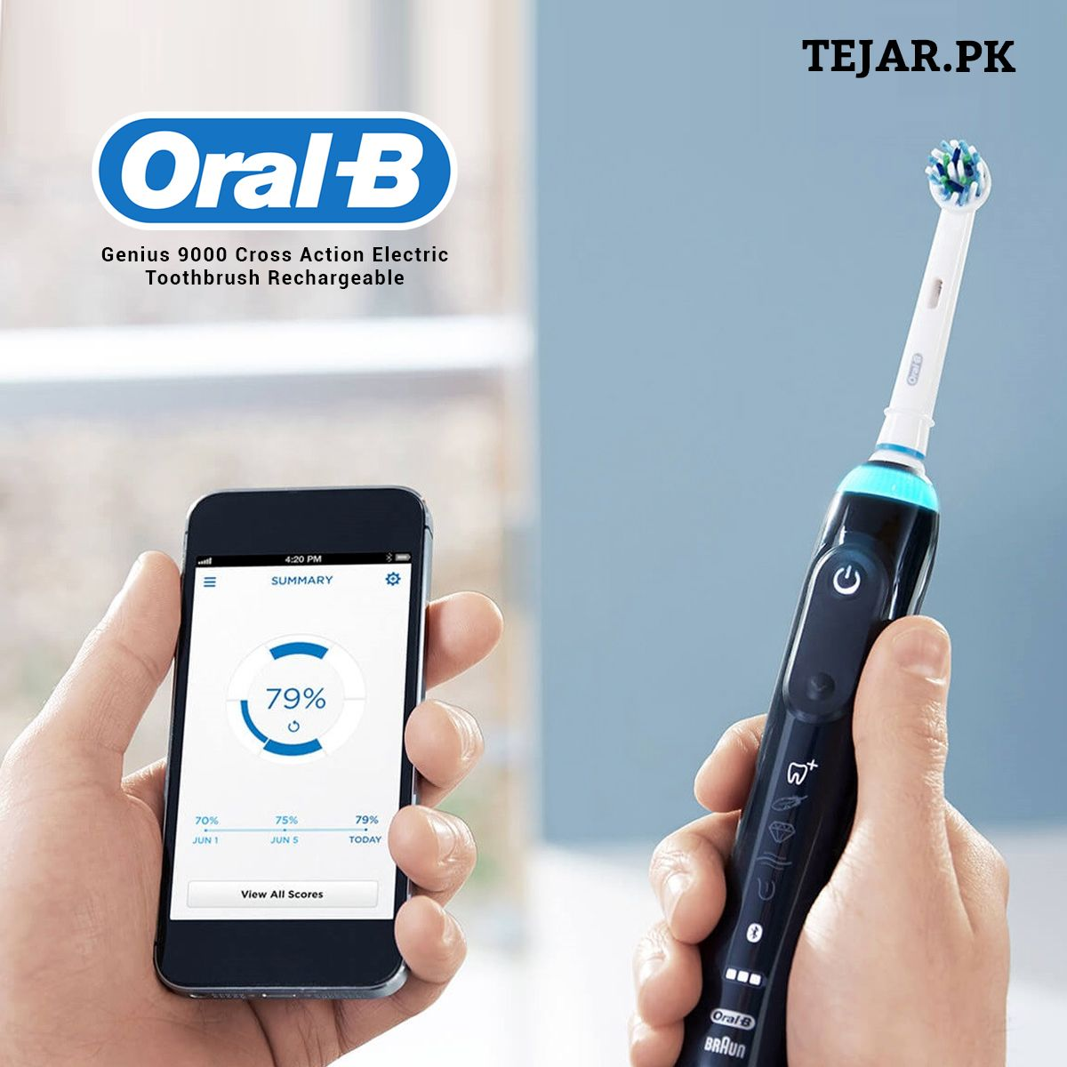 Oral B Genius 9000 Black Electric Toothbrush With Bluetooth Brand New 4210201163046 Ebay Brushing Teeth Oral B Rechargeable Toothbrush