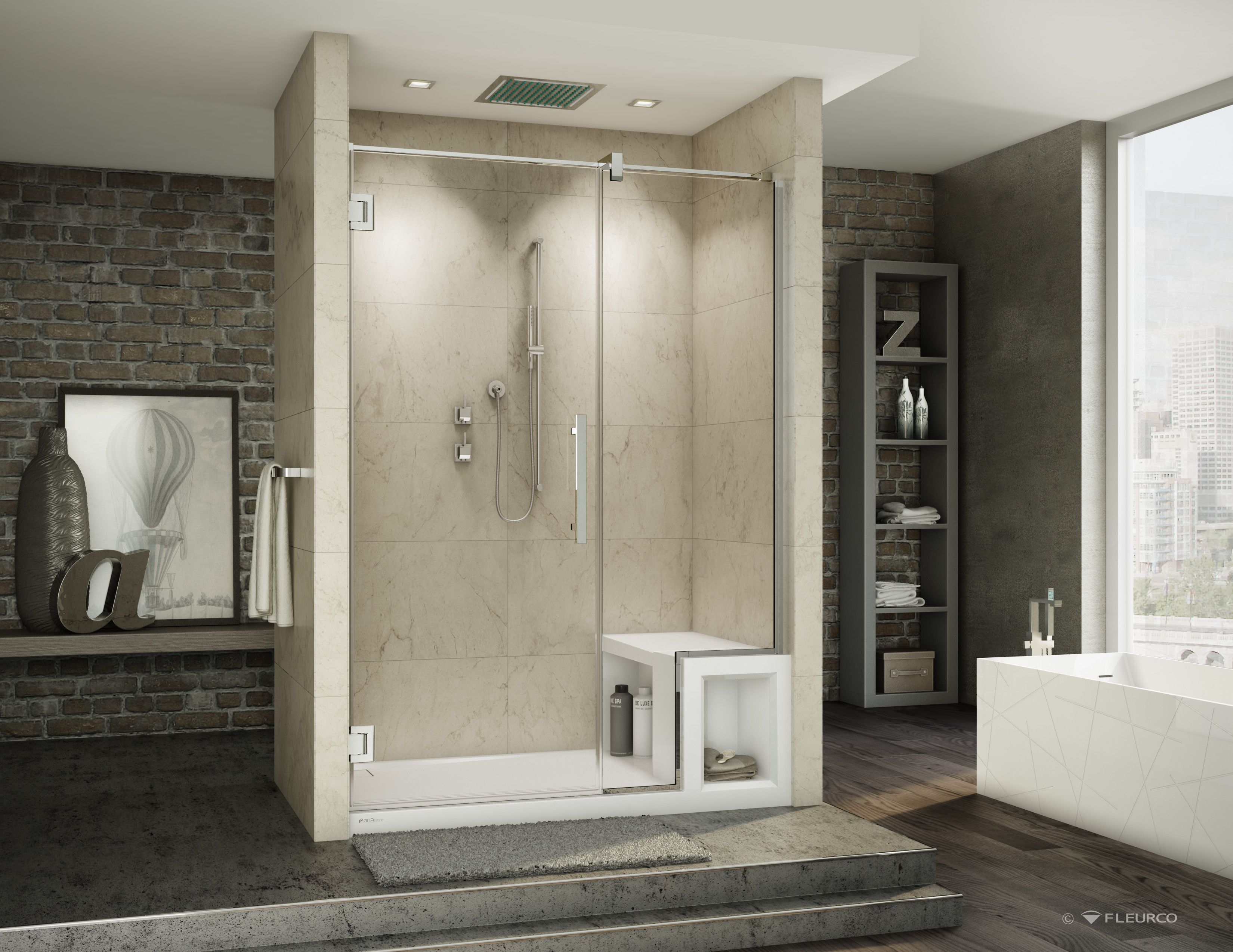 Shower Bases With Bench Seats | On The Bench: Great Bases From Fleurco |  Mecc