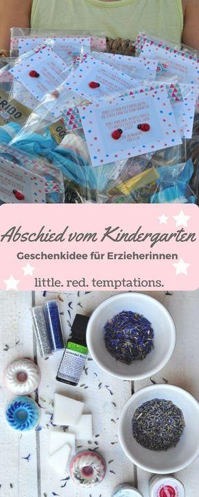 Kindergartenabschied - Geschenkidee für die Erzieherinnen #abschiedsgeschenkerzieherin