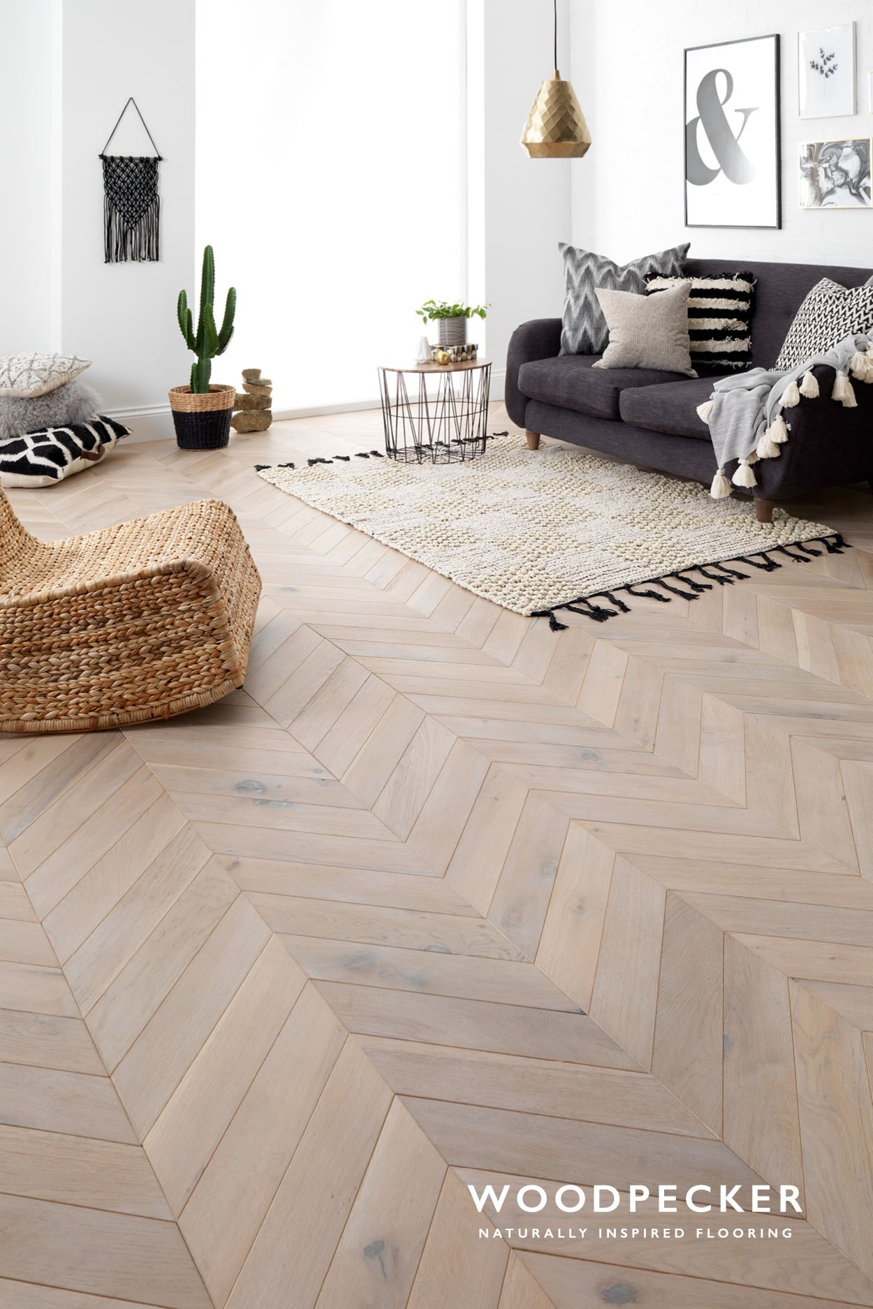This Scandinavian Inspired Chevron Is Full Of Ashen Tones And Fun Character Washed In White The Blocks Are Angled For A Unique Look