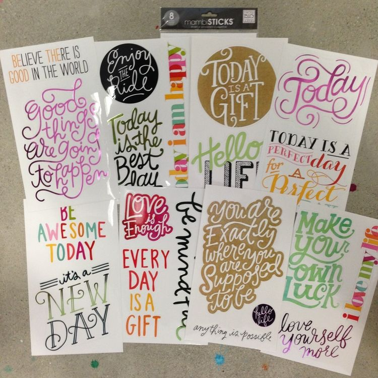 I used the entire JUMBO sticker pack! Easy diy crafts