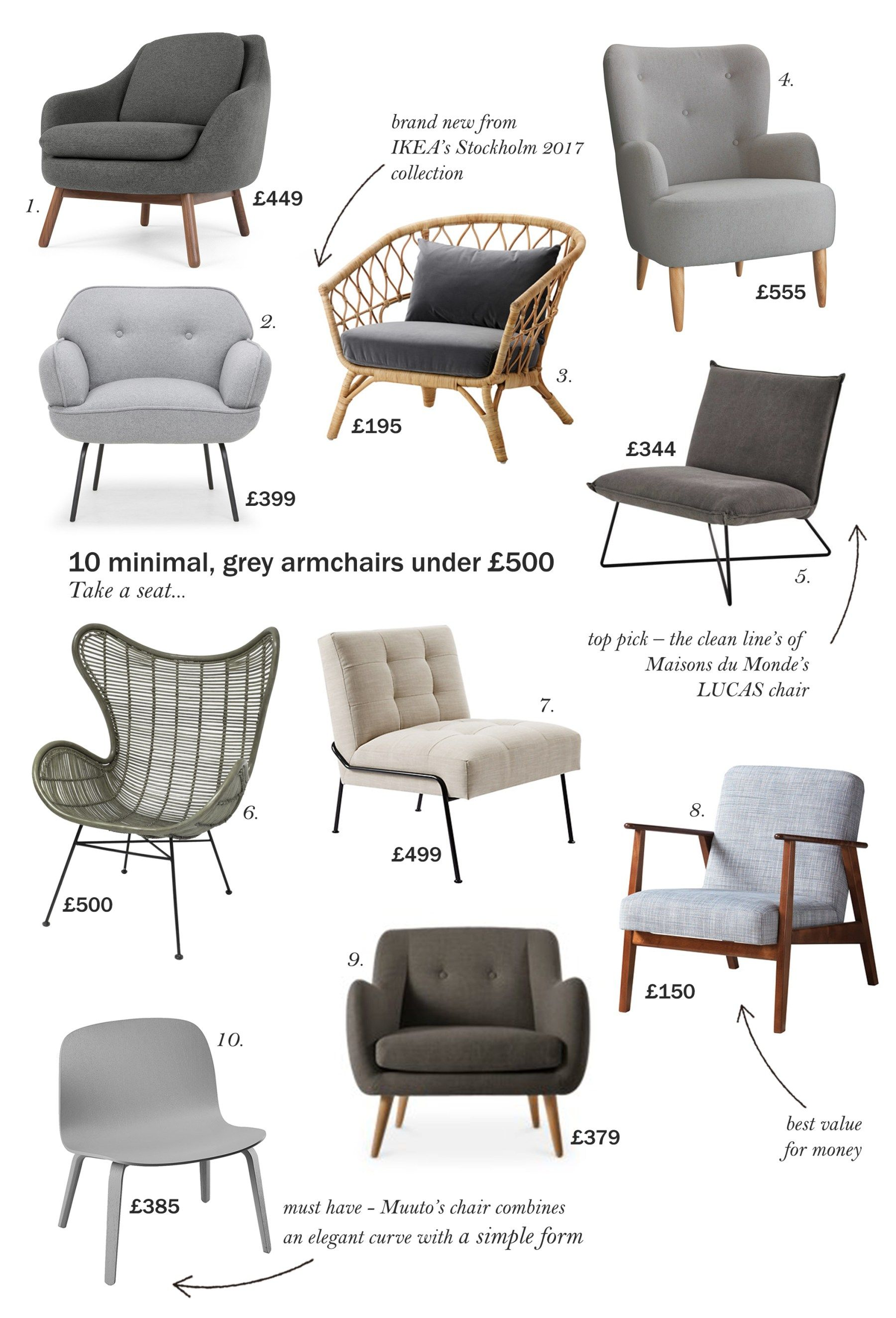 Superb 10 Minimal Scandinavian Style Armchairs For Under 500 Ocoug Best Dining Table And Chair Ideas Images Ocougorg
