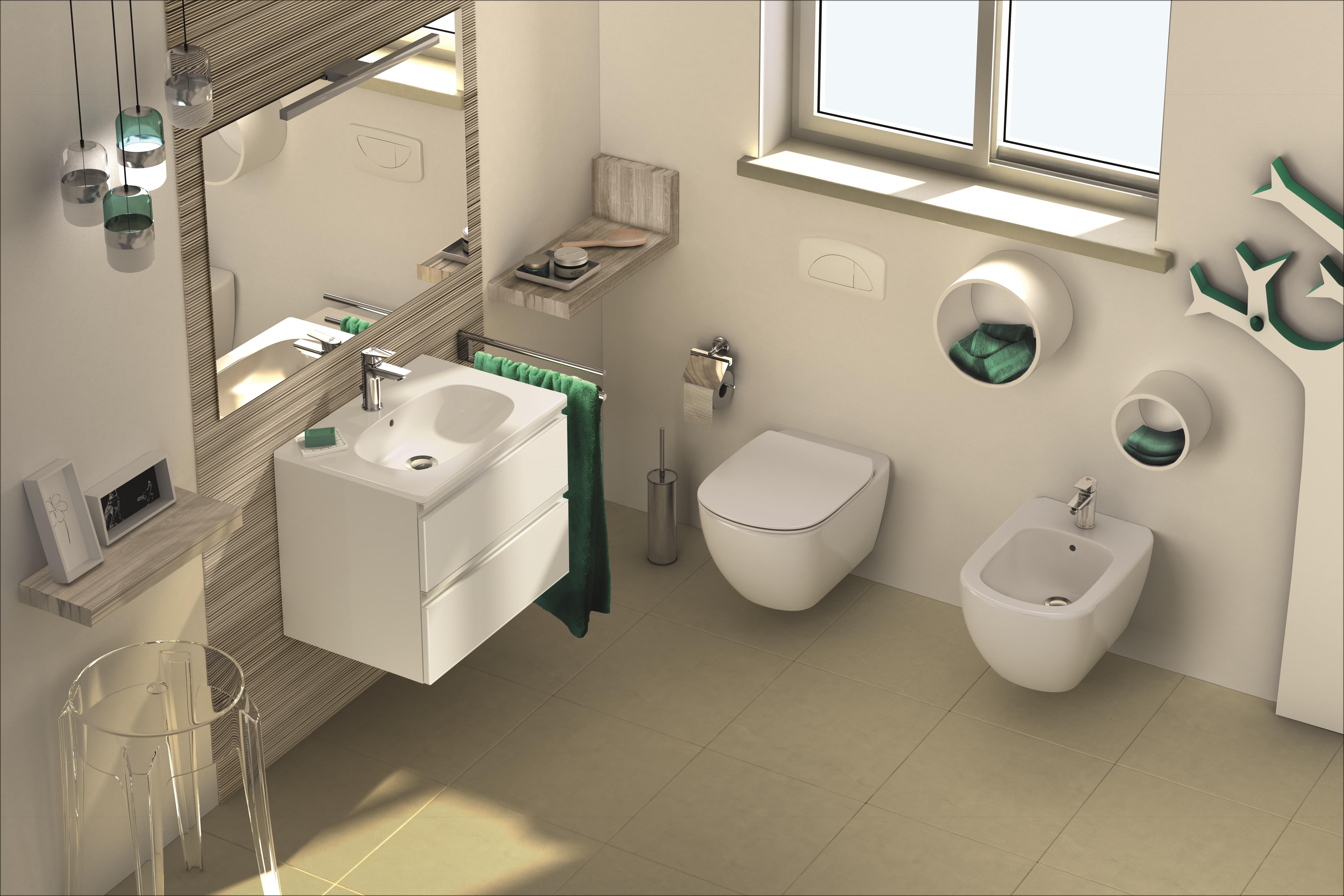 Idėja Kaip Tinkamai Isnaudoti Didele Erdve Kuri Neatrodytų Per Daug Apkrauta Unideco Jaukurai Vonioskamb Bathroom Sanitary Contemporary Bathrooms Bathroom