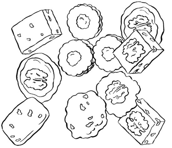 Various Cookie Coloring Page | Coloring pages, Color, Cookies